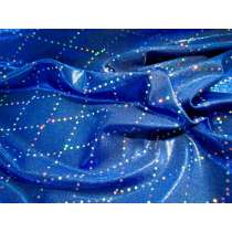 Mirror Sequin Diamond Fog Spandex- Royal
