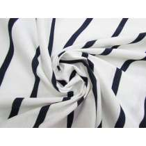 Stripe Cotton Blend Knit- Navy On White #5200