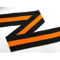 80mm Thick Rib Trim- Black & Orange #3503