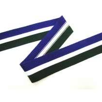 55mm Thick Rib Trim- Purple, White & Green #3504