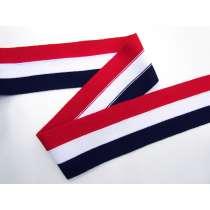 70mm Thick Rib Trim- Navy, Red & White #3505