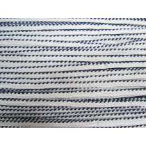 Twisted Decorative Piping Tape- Navy / White #513