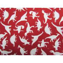 Dinosaur Adventures Cotton- Red