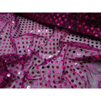 Spaced 6mm American Sequins- Cerise/Black