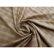 Caramel Check Cotton Blend Shirting #5257