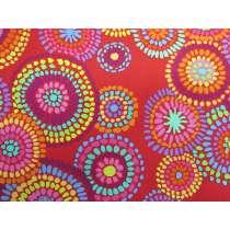 Kaffe Fassett Mosaic Circles- Red