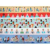 Medical Marvels Cotton- Medical Stripe #0115-B