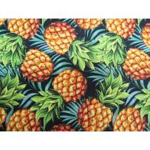 Tropical Fruit Cotton- Pineapple and Palms #9073-B