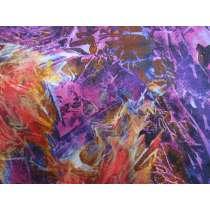 Flower Jewels Cotton- Marble Purple / Red #04260-MU