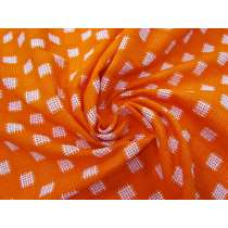 Summer Citrus Embroidered Check Cotton #3698