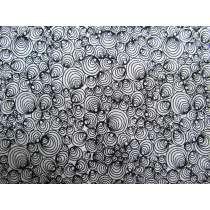 Morning Frost Cotton- Scribble Swirl Black on White DV2102