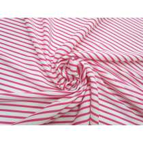 Stripe Interlock Jersey- Lively Pink #5295