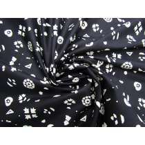Flower Confetti Cotton- White on Black #3736