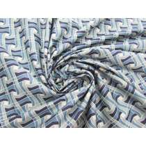 Moving Mosaic Cotton- Ocean #3733