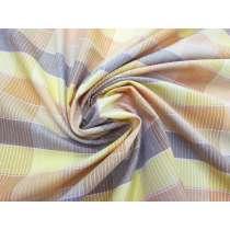 Mod Check Cotton- Yellow #3731