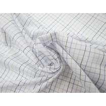 Grid Paper Check Cotton Blend Shirting #3742