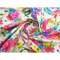 Vibrant Bouquet Spandex- White #5312