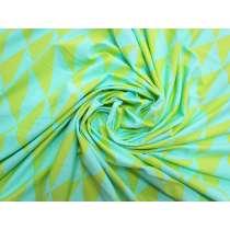 Chic Geo Lightweight Spandex- Blue / Green #5319