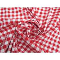 Gingham Cotton- Red #5340