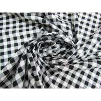 Gingham Cotton- Black #5341