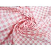 Gingham Cotton- Peach Pink #5345