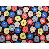 Fresh Blossoms Cotton- Black #5364