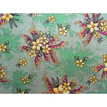 Kangaroo Paw & Guinea Flower Cotton- Green