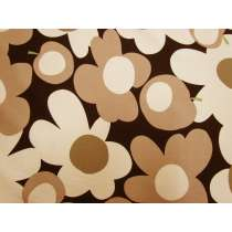 Tutti Frutti Flower Cotton - Black/Brown #5360