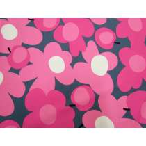 Tutti Frutti Flower Cotton- Pink/Grey #5361