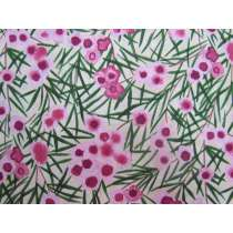 Wax Flower Cotton- Pink