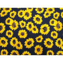 Sunflower Stunner Cotton- Navy #5367