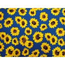Sunflower Stunner Cotton- Blue #5369