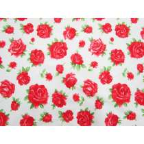 Radiant Roses Cotton- White #5370