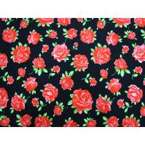 Radiant Roses Cotton- Black #5371