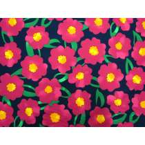 Pop Flower Cotton- Pink/Navy #5373
