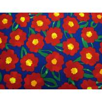 Pop Flower Cotton- Red/Blue #5374