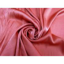 Crepe Back Viscose Satin- Coral Rose #5398