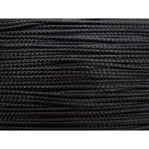 4mm Braided Cord Trim- Shiny Black #423