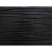 4mm Braided Cord Trim- Shiny Black #423
