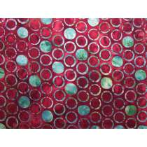Circles Batik Cotton- Maroon #3861