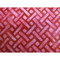 Batiks Cotton- Elementals- Geo Red