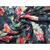 Graceful Peony Faille- Black #3871