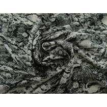 Stone Snake Print Faille #3878
