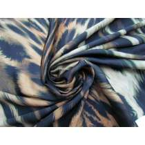 Optical Illusion Animal Print Satin Chiffon #3880