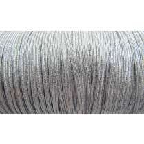 3mm Silver Metallic Elastic