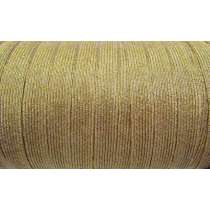 12mm Gold Metallic Elastic