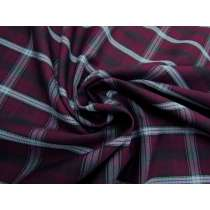 Boysenberry Check Viscose Blend Suiting #3994