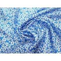 Dreamy Blue Floral Silk Satin #4075