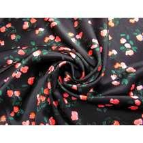 Romantic Roses Textured Viscose Satin #4085