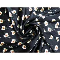 Fresh Florals Textured Viscose Satin #4083